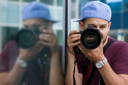 Image of male photographer with dslr