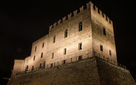The Malatesta castle in Mondaino (Rimini)
