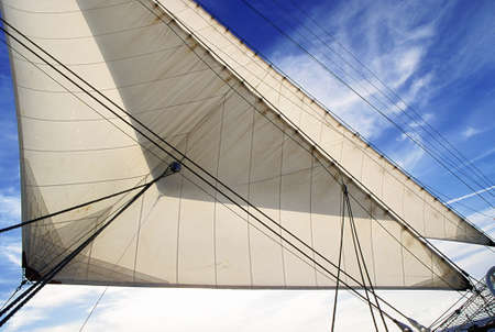 Way foresail and blue sky