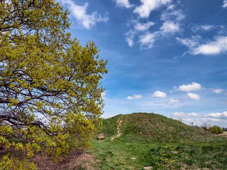 Photo pour Bronze age Burial mound of Danish Egtved girl - image libre de droit
