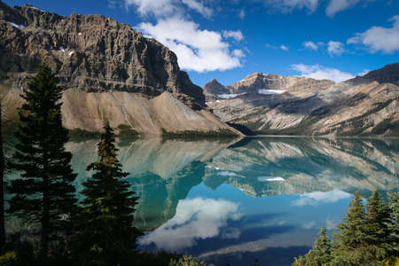 Bow Lake in the Banff National Park - Canada