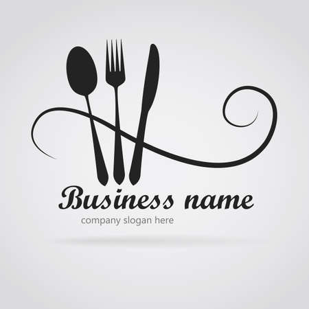 Logo restaurant with cutlery