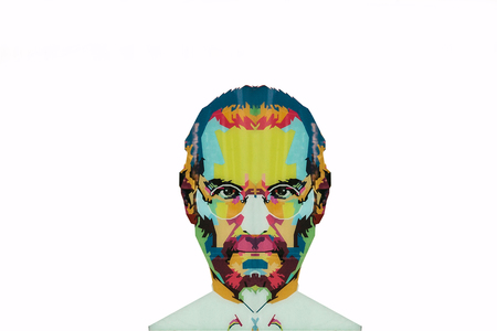 Photo pour Christmas Island, Australia, May 20, 2018: an illustration in the art style in the form of a mosaic Steve Jobs - a talented person and the founder of the international corporation Apple - image libre de droit
