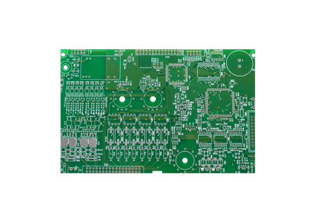 Photo pour A board with microcircuits or a computer board is isolated on a white background. - image libre de droit