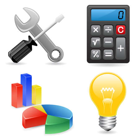 Illustration for Tools icons for website - Royalty Free Image