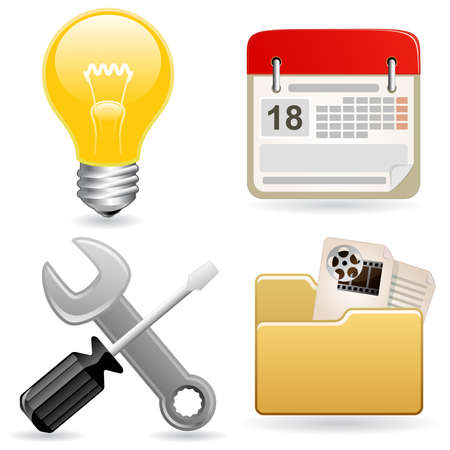Icon set for web site