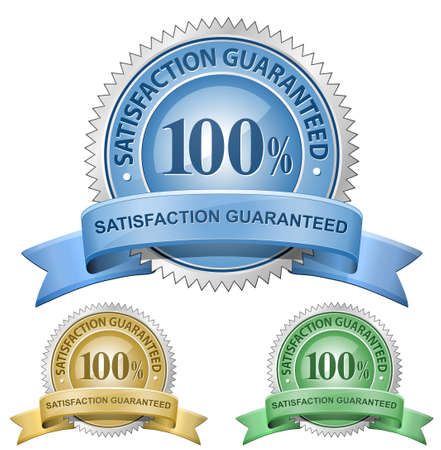100 % Satisfaction Guaranteed Signs.