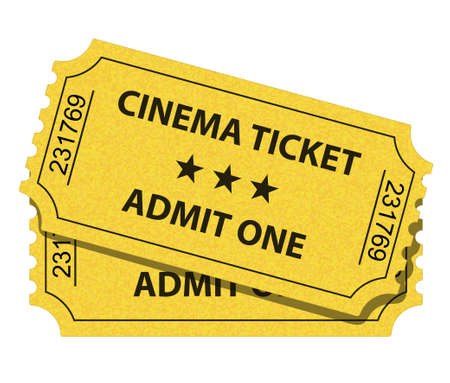 illustration of cinema ticket