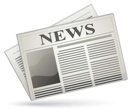 Newspaper icon. Vector illustration of newspaper