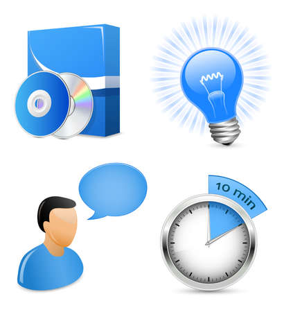 Vector Icons for Software Development Company or IT solution provider