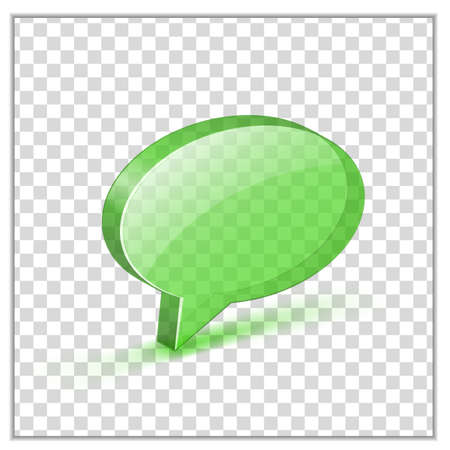 Transparent green glossy bubble. Vector illustrations