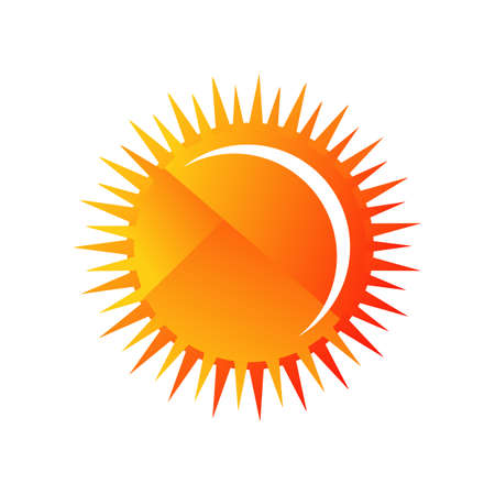 Illustration for Sun vector icon a Sunburst Yellow sun icon vector logo and summer element - Royalty Free Image