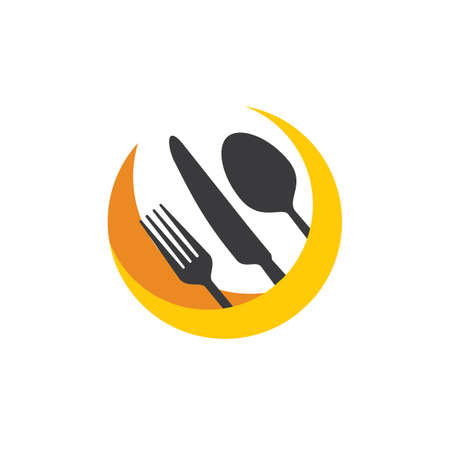 Illustration pour stylish Spoon and Fork logo vector illustration for cafe or restaurant and cooking business - image libre de droit
