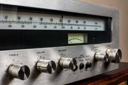 Photo for knobs on the amplifier, treble, volume, balance - Royalty Free Image