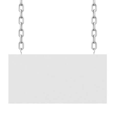 Blank White Hanging Sign