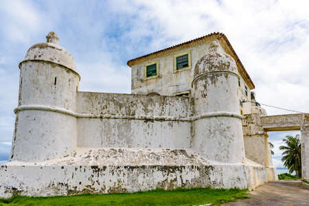 Fort of Our Lady of Monte Serrat built in the 16th century and located in Humaita tip in Salvador, Bahia