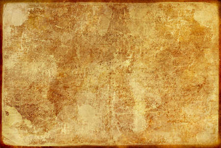 old paper texture with elements of map