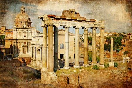 Roman forums - retro styled