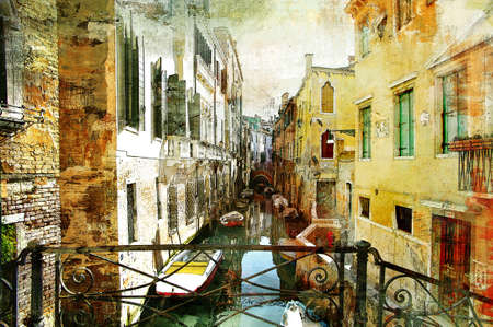 Photo for Venetian pictures - artwotk in painting style - Royalty Free Image