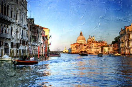 Grand canal - Venice- artwork in painting style