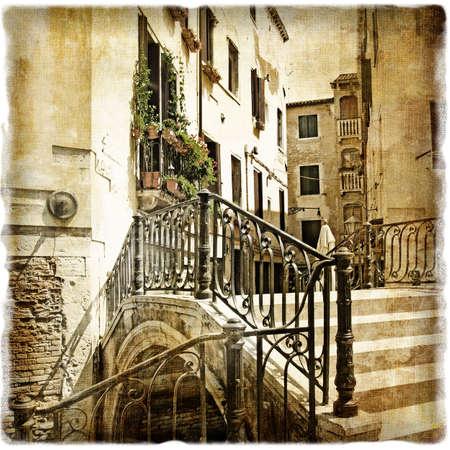 ventian streets - picture in retro style