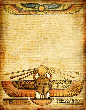 old background with egyptian patterns