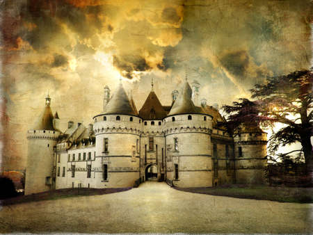 Chaumont castle - artistic retro styled picture