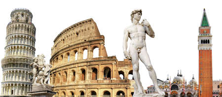 greatest italian landmarks, travel background