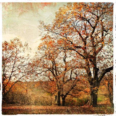 golden autumn - artistic landscape