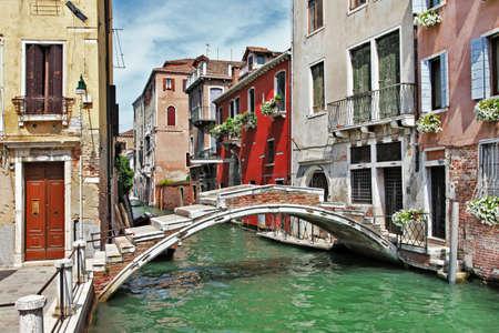 Foto de beautiful romantic Venetian scenery  - Imagen libre de derechos