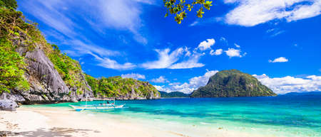 panorama of beautiful beach in El Nido, Palawan, Philippines