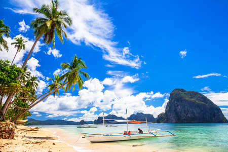 beautiful tropical beach, El Nido Palawan