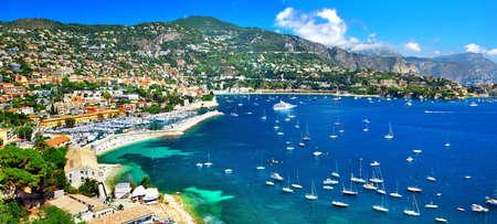 Photo pour pictorial azzure coast of France, view ov Nice - image libre de droit