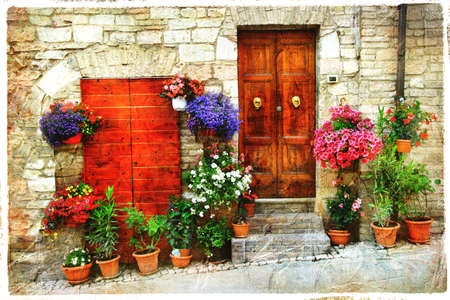 beautiful old streets of mediterranean, artistic picture