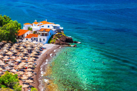 beaches of Greek islands Hydra Saronic