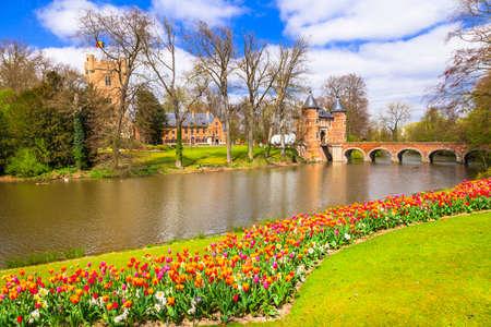 Photo for romantic castle Groot-Bijgaarden, Belgium - Royalty Free Image