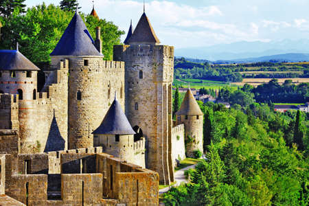 Carcassonne- biggest town fortress in France