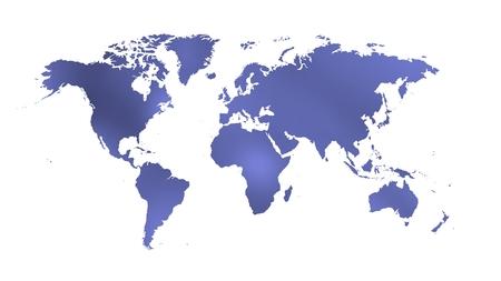 bluish worldmap