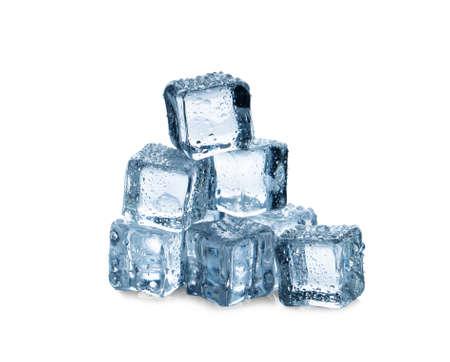 Photo pour ice cubes on white background - image libre de droit