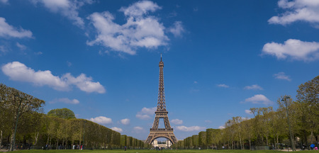 Photo for Eiffel tower and cloudy sky, Paris, France - Royalty Free Image