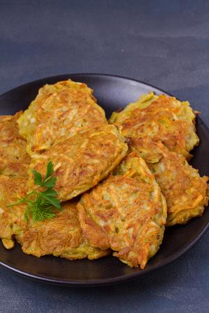 Potato Pancakes. Vegetable fritters, latkes, draniki