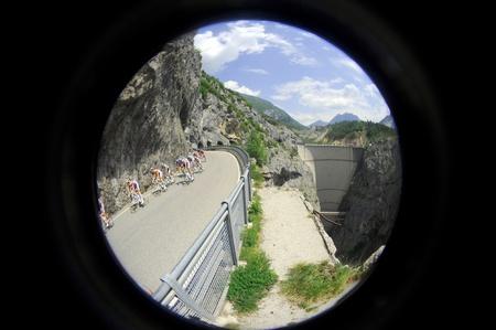 CORTINA D'AMPEZZO, ITALY - MAY 22: Giro D'Italia from Conegliano  to Gardeccia / Val di Fassa May 22, 2011 in Cortina D'Ampezzo, Italy. Various Cyclists during the 94th