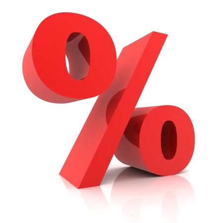 Photo pour 3d Percentage sign isolated on white  background - image libre de droit