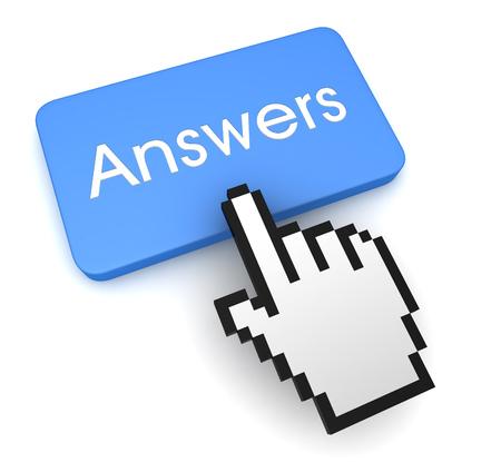 Photo pour answers button concept 3d illustration - image libre de droit