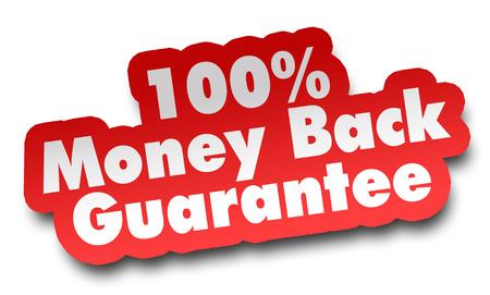 Foto de money back concept 3d illustration isolated on white background - Imagen libre de derechos