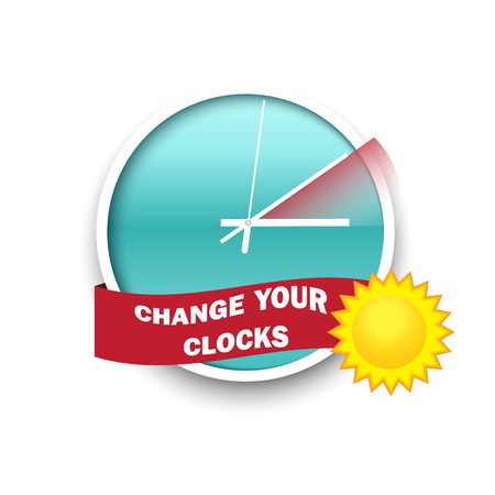 Illustration pour Change your clocks message for Daylight Saving Time - image libre de droit