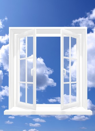 Conceptual image - window in sky