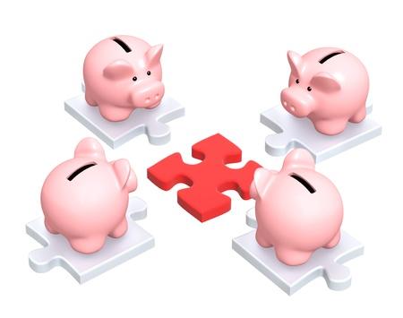Conceptual image - distribution of finances