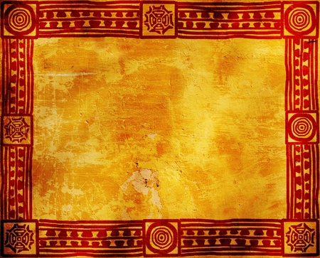 Grunge background with American Indian traditional patterns