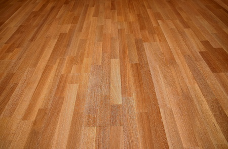 New oak parquet of brown color